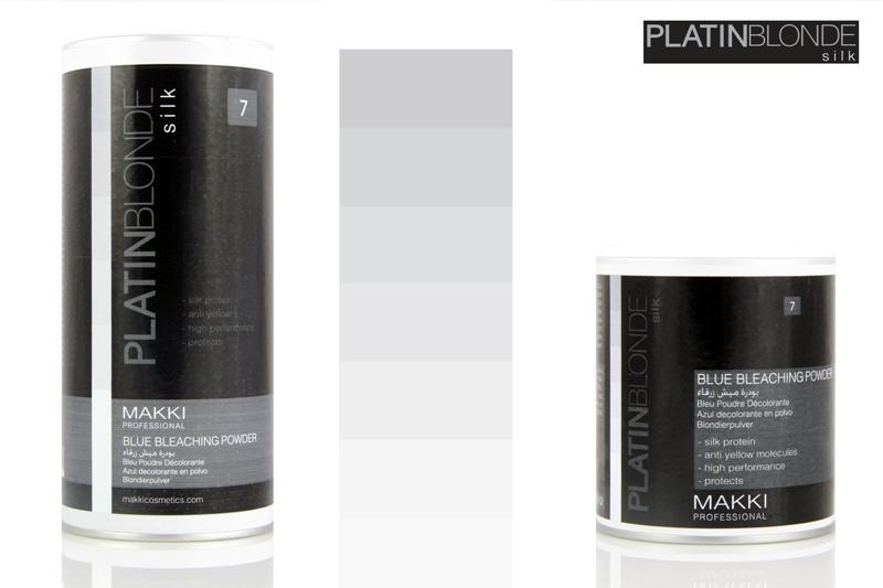Platin Blonde Blue Hair Bleach Powder