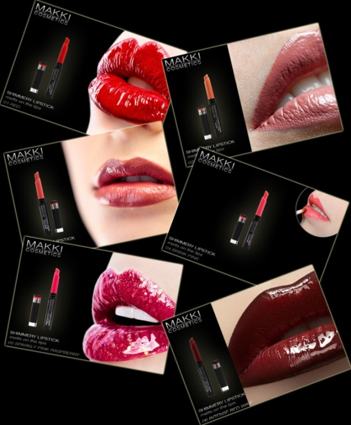 Shimmery Lipstick, melts on the lips