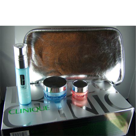 CLINIQUE Turnaround beauty Set / Sliver Bag