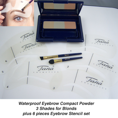 Waterproof Compact eyebrow Powder For Blonds