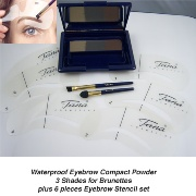Waterproof Compact eyebrow Powder For Brunettes