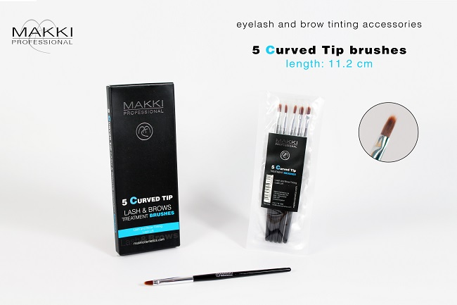 5 Curved Tip Bruhes
