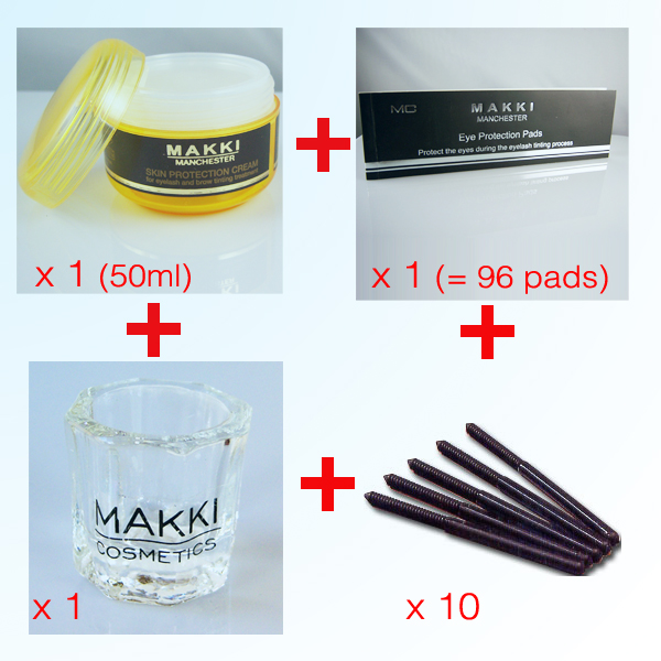 Basic  Eyelash- Brow Tinting Accessory kit