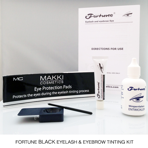Fortune Black Eyelash and Brow Tinting Kit