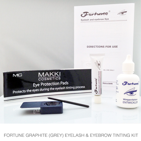 Fortune Graphite / Grey  Eyelash and Brow Tinting Kit