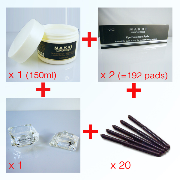 Large  Eyelash- Brow Tinting Accessory kit