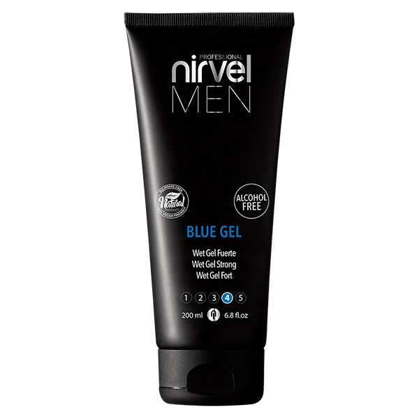 Strong and flexible hold Wet-Look  Blue Gel