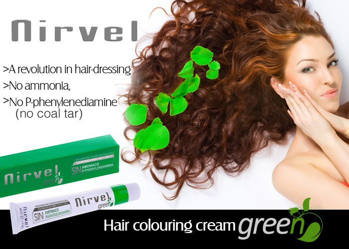 NIRVEL GREEN Hair Colour Cream Tint (Ammonia Free)