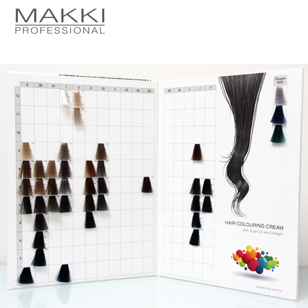 Makki Hair Colour Chart
